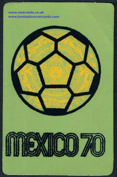 1970 mexico 70 felt Aztec green pc